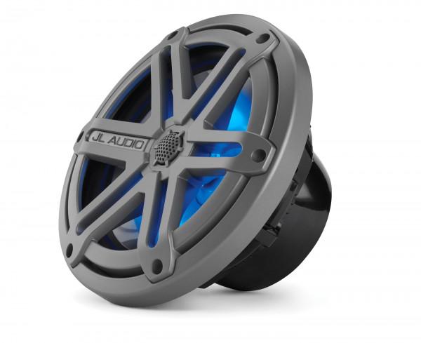 """JL Audio Marine MX 7.7"""" (196 mm) Coaxial Speaker System w/ LED Titanium Black Sport Grills"""