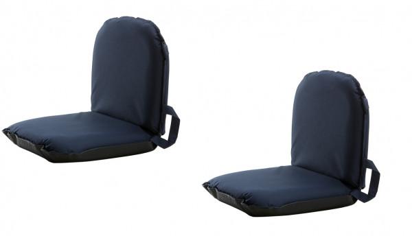 2 St.1852 Marine Quality Sitzkissen klein mit 6 Einstellungen. Navy