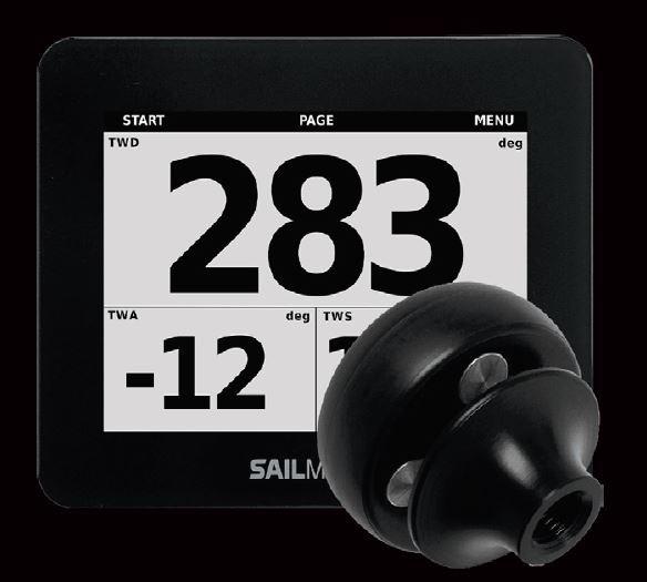 Sailmon Max Navigations-Display Bundle mit kabellosem BLE Wind-Sensor