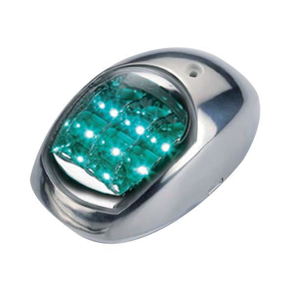 LED Laterne Edelstahl Set rot/ grün