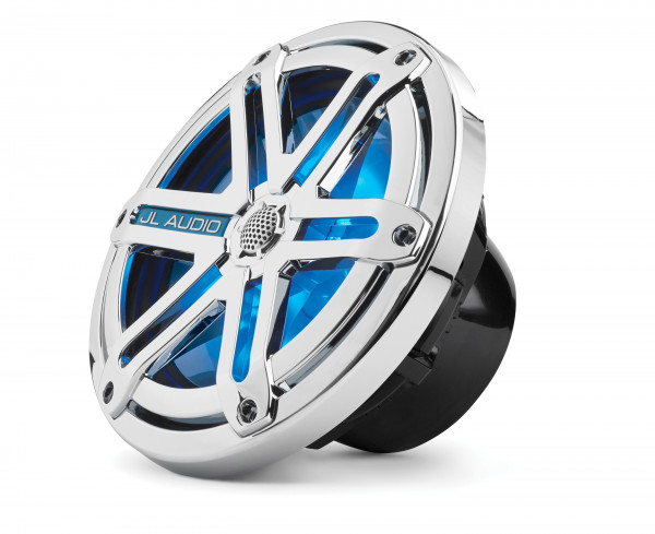 "JL Audio Marine MX 7.7"" (196 mm) Coaxial Speaker System w/ LED Chrome Sport Grills"