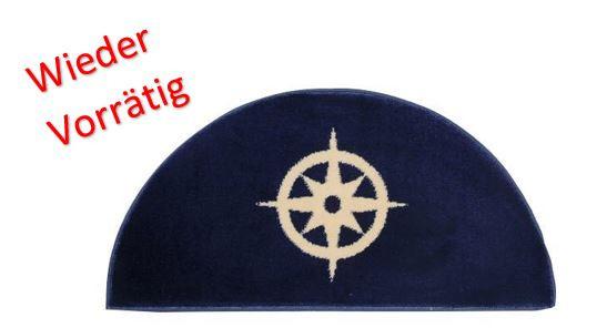 1852 Marine Quality Fußmatte Kompass Halb Rund 91X47cm