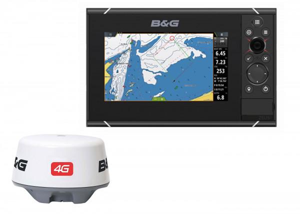 "B&G Zeus³ 7"" Kartenplotter inkl. 4G Radar"